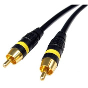CABLES UNLIMITED AUD-1305-10 Pro A-V Series 10-Feet 1Xrca Video Cable with Gold Connectors