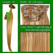 Brybelly Holdings PRST-14-2427 No. 24-27 Light Blonde with Dark Blonde Highlights - 36cm