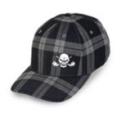 Tattoo Golf H023-LB Tartan Plaid Golf Hat - Black - L-XL - 7.13 - 7.63