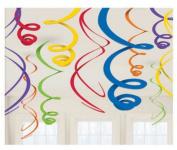 Primary Plastic 60cm Hanging Decorations, Asst.