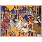 "Trademark Fine Art 90cm x 120cm ""Absinthe Berthelot"" by Thiriet"
