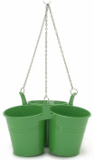 Houston International 9.5in. x 5in. Triple Hanging Planter 8116E