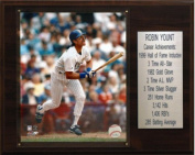 C & I Collectables 1215YOUNTST MLB Robin Yount Milwaukee Brewers Career Stat Plaque