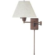 Dainolite DMWL800-OBB 3-Light Wall Lamp Swing Arm with Shade - Oil Brushed Bronze