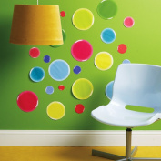 Wallies Wallcoverings 13355 Peel & Stick Wall Art 3-D Dots