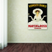 Trademark Fine Art Wall Art and Posters 90cm . x 120cm . Vermouth Bianco Martini & Rossi by Marcello Dudovich Canvas Art V6049-C3547GG
