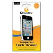Qmadix QM-TTAAP4 Tempered Tech-Armor Screen Protector for Apple iPhone 4S-4 - Black