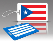 Insight Design 770581 TagCrazy Luggage Tags- Puerto Rico Flag- Set of Three