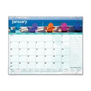 At-A-Glance AAGDMD14132 Monthly Desk Pad- 12-Months- Images of The Sea- 22in.x17