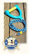 Paws Aboard PAW3000 Water Ski Rope Leash Yellow with Blue