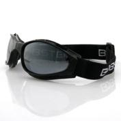 Zan Headgear BCR001 Crossfire Small Folding Goggles Black frame Smoke lenses