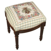 123 Creations C600FS Bumble Bee Needlepoint Stool