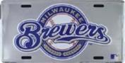 LP-1269 Milwaukee Brewers MLB Chrome Licence Plate- 50048