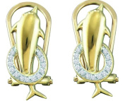Gold and Diamonds EF7704 0.08CT-DIA MICRO-PAVE EARRINGS- Size 7