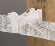 Dare Products Wood Post Tape Insulator White - 2338-25 W
