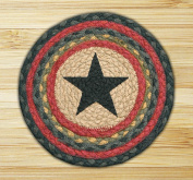 Capitol Importing 80-238S Star - 10 in. x 10 in. Hand Printed Round Swatch