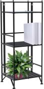 Convenience Concepts Designs2Go Metal Folding 3 Shelf Bookcase, Multiple Finishes