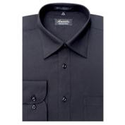 Amanti CL1002-15 1/2x34/35 Amanti Mens Wrinkle Free Solid Black Dress Shirt