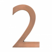 Architectural Mailboxes 3582AC-2 Solid Cast Brass 4 inch Floating House Number Antique Copper 2