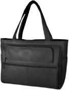 David King & Co 148B Women s Multi Pocket Briefcase- Black