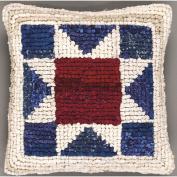 M C G Textiles 263411 Quilt Mates Locker Hook Pillow Kit 28cm . x 28cm . -American Star