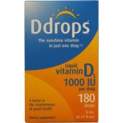 Ddrops 1072867 D Drops Liquid Vitamin D3 - 1000 IU - 0.17 fl oz