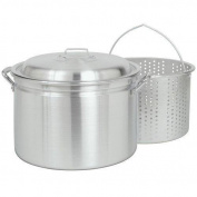 Bayou Classic 4034 32.2l. Fryer- Steamer with Lid and Basket - Aluminium