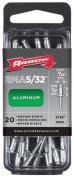 Arrow Fastener Co. RMA.16 20 Count .40.6cm . Medium Aluminium Rivets
