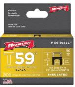 Arrow Fastener 091-591168BL .63.5cm . Insulated Staple Black 300- Box