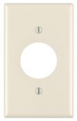 Leviton Mfg 000-78004-000 Light Almond 1 Gang Single Receptacle Wall Plate