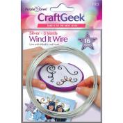 Purple Cows PC7103 Wind It Wire 16 Gauge 0.9m-Pkg-Silver