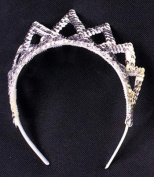 Costumes For All Occasions Gb10Sv Tiara Sequin Silver