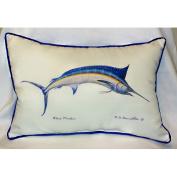 Betsy Drake HJ015 Blue Marlin Art Only Pillow 15x22