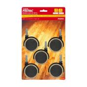 MADICO F48034 5.1cm . Threaded Stem 5 Pack Feltac Fusion Wheel - 6 Packs