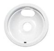 Range Kleen 1 Large Drip Bowl, Style B fits Plug-In Electric Ranges GE/Hotpoint/Kenmore/RCA, White Porcelain
