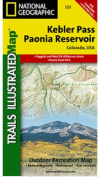 National Geographic TI00000133 Map Of Kebler Pass-Paonia Reservoir - Colorado