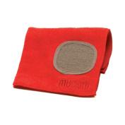 MUkitchen Microfiber Dishcloth With Built-In Scrubber, 30cm by 30cm , Crimson