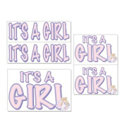 Beistle - 55115 - Its A Girl Auto-Clings- Pack of 12