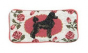 123 Creations C281EG Black Poodle petit-point eyeglass case