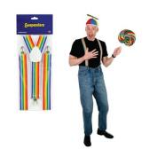 Beistle 60808 Rainbow Suspenders - Pack of 12