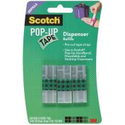 Scotch Pop-Up Tape Refills 75 Strips/Pad 3 Pads/Pkg-.190cm x 5.1cm
