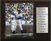 C and I Collectables 1215BANKSST MLB Ernie Banks Chicago Cubs Career Stat Plaque