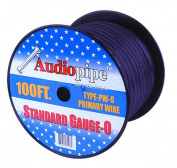 APipe 25ft Roll 0 ga Black Power Wire 4 - PW025BLACK