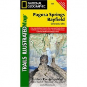 National Geographic TI00000145 Map Of Pagosa Springs-Bayfield - Colorado
