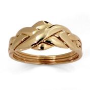 PalmBeach Jewelry 324048 10k Yellow Gold Puzzle Ring - Size 8