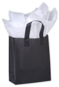 Bags & Bows by Deluxe 268-080410-12 Black Frosted High Density Shoppers - Case of 250