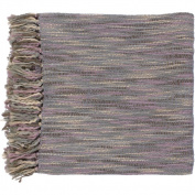 Surya TEE1003-5578 140cm x 200cm Teegan Throw - Mauve-Grey