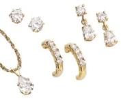 MBM Company 137920001 UltraCZ Earring Trio Set with. Pierced Style