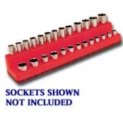 Mechanics Time Saver MTS727 1/4 Inch Drive Deep Rocket Red Socket Holder 4-14mm