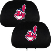Team Promark HRML09 Headrest Covers -set of 2- Indians-HR- Black